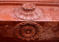 Detail of lotus decoration in beam.