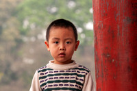 Hanoi: Young boy at the park.