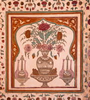 Beautiful painting on the wall of Amber Fort.