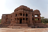 Front of the larger medieval Hindu temple on Gwalior's rock.