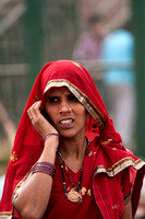 INDIA: Concerned woman.