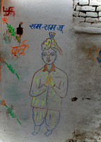 Wall painting in old town.