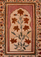 Colors derived from flowers to paint flowers on the walls of Amber Palace..