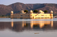 Reflection of the palace at sunset.