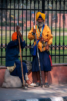 INDIA: Sikh guards taking a rest.