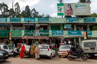 Shops on two levels in Ooty.