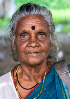Older Hindu woman.
