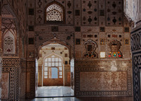 Looking through Amber palace and the mirror walls.