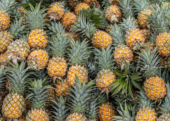 VIETNAM: pineapples on the market.