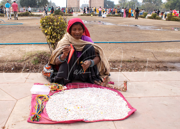 INDIA: White beans for sale.