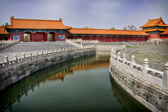 Beijing Forbidden City: canal through the complex.