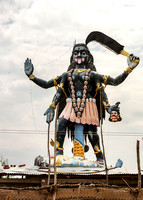 Giant statue of the goddess Kali.