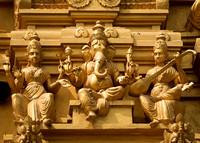 Detail of statues on the golden entrance tower: Ganesha.