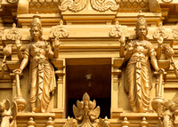 Detail of statues on the golden entrance tower: the Gate Keepers.