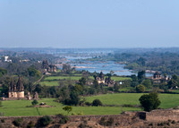 The Betwa River along cenotaphs as seen from the Palace.