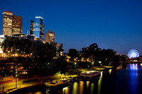 Skyline over Yarra river in Melbourne - Australia.