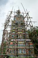 Gopuram in scaffold.