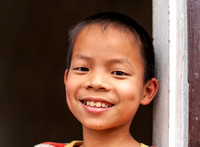 Duong Lam: Kid in the village.