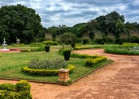 Part of the garden at Bangalore Palace.
