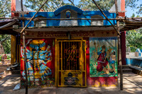 Small Shiva temple with Kali goddess images.