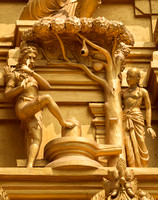 Detail of statues on the golden entrance tower.