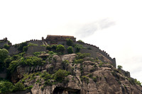 The higher ramparts of Gingee Fort.