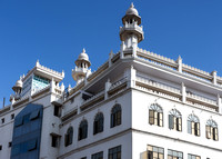 Detail of the Jamia Masjid, Grand Mosque in Old town.