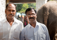 Two men at Amma Mandapam.